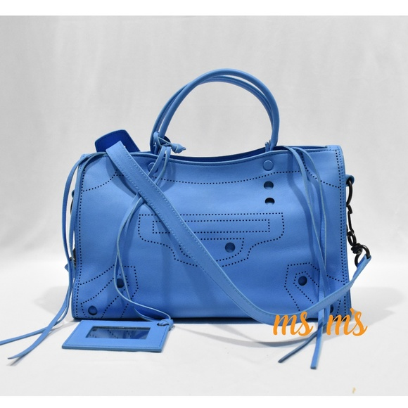 Balenciaga Bags   New Blue Calfskin Small City Bag   Poshmark 4afaf7cbb2